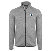 Grey Heather Fleece Jacket-LLL Base