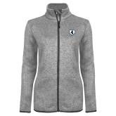 Grey Heather Ladies Fleece Jacket-LLL Base