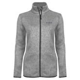 Grey Heather Ladies Fleece Jacket-LLL Signature