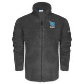 Columbia Full Zip Charcoal Fleece Jacket-Stacked Shield/Phi Delta Theta Symbols