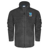 Columbia Full Zip Charcoal Fleece Jacket-Stacked Shield/Phi Delta Theta Symbols