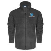 Columbia Full Zip Charcoal Fleece Jacket-Stacked Shield/Phi Delta Theta