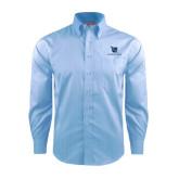 Red House Light Blue Dobby Long Sleeve Shirt-Stacked Shield/Phi Delta Theta