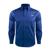 Red House French Blue Long Sleeve Shirt-Stacked Shield/Phi Delta Theta Symbols