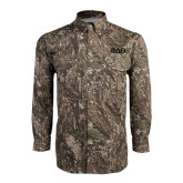 Camo Long Sleeve Performance Fishing Shirt-Phi Delta Theta Symbols