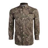 Camo Long Sleeve Performance Fishing Shirt-Phi Delta Theta Symbols