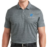 Nike Dri Fit Charcoal Crosshatch Polo-Stacked Shield/Phi Delta Theta