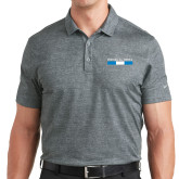 Nike Dri Fit Charcoal Crosshatch Polo-Phi Delta Theta Bar
