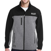 DRI DUCK Motion Black/Heather Softshell Jacket-Phi Delta Theta Symbols