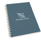 Clear 7 x 10 Spiral Journal Notebook-Stacked Shield/Phi Delta Theta