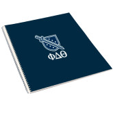 College Spiral Notebook w/Clear Coil-Stacked Shield/Phi Delta Theta