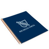 College Spiral Notebook w/Gold Coil-Stacked Shield/Phi Delta Theta