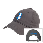 Charcoal Twill Unstructured Low Profile Hat-New Jersey