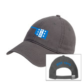 Charcoal Twill Unstructured Low Profile Hat-Oklahoma