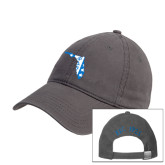 Charcoal Twill Unstructured Low Profile Hat-Florida