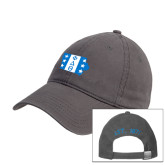 Charcoal Twill Unstructured Low Profile Hat-Iowa
