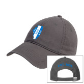 Charcoal Twill Unstructured Low Profile Hat-Illinois
