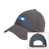 Charcoal Twill Unstructured Low Profile Hat-Massachusetts
