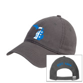 Charcoal Twill Unstructured Low Profile Hat-Michigan