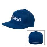 Royal OttoFlex Flat Bill Pro Style Hat-Shield/Phi Delta Theta Symbols
