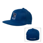Royal OttoFlex Flat Bill Pro Style Hat-Stacked Shield/Phi Delta Theta Symbols