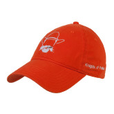 Orange Twill Unstructured Low Profile Hat-Kleberg