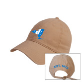 Khaki Twill Unstructured Low Profile Hat-New York