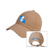 Khaki Twill Unstructured Low Profile Hat-Louisiana