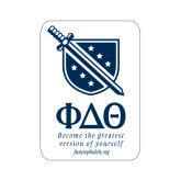 Small Magnet-Stacked Shield/Phi Delta Theta Symbols Recruitment, 6in H