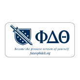 Large Magnet-Shield/Phi Delta Theta Symbols Recruitment, 12in W