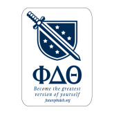 Large Magnet-Stacked Shield/Phi Delta Theta Symbols Recruitment, 12in H