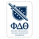 Extra Large Magnet-Stacked Shield/Phi Delta Theta Symbols Recruitment, 18in H