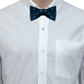 Navy Silk Bow Tie-