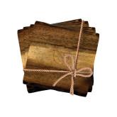 Acacia Wood Coaster Set-Stacked Shield/Phi Delta Theta