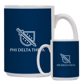 Full Color White Mug 15oz-Stacked Shield/Phi Delta Theta