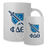 Full Color White Mug 15oz-Stacked Shield/Phi Delta Theta Symbols