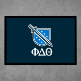 Full Color Indoor Floor Mat-Stacked Shield/Phi Delta Theta Symbols