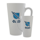 Full Color Latte Mug 17oz-Stacked Shield/Phi Delta Theta