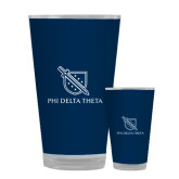 Full Color Glass 17oz-Stacked Shield/Phi Delta Theta