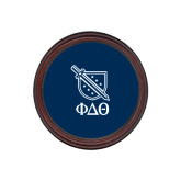 Round Coaster Frame w/Insert-Stacked Shield/Phi Delta Theta