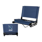 Stadium Chair Navy-Stacked Shield/Phi Delta Theta Symbols