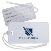 Luggage Tag-Shield/Phi Delta Theta Symbols