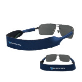 Croakies Navy Wide Band Sunglasses Strap-Flat Shield/Phi Delta Theta