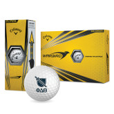 Nike Power Distance Golf Balls 12/pkg-Stacked Shield/Phi Delta Theta