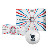 Callaway Supersoft Golf Balls 12/pkg-Stacked Shield/Phi Delta Theta