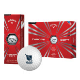 Callaway Chrome Soft Golf Balls 12/pkg-Stacked Shield/Phi Delta Theta