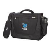 High Sierra Black Upload Business Compu Case-Stacked Shield/Phi Delta Theta Symbols