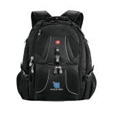 Wenger Swiss Army Mega Black Compu Backpack-Stacked Shield/Phi Delta Theta