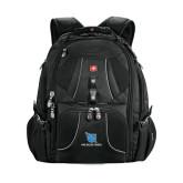 Wenger Swiss Army Mega Black Compu Backpack-Stacked Shield/Phi Delta Theta