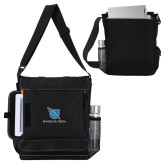 Impact Vertical Black Computer Messenger Bag-Stacked Shield/Phi Delta Theta